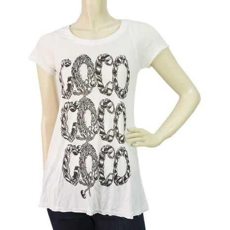 Lauren Moshi Limited Edition COCO T-shirt Blouse Top White Size XS