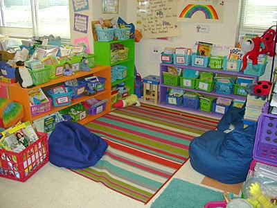 Bean Bag Chairs In A Reading Area Help To Create A
