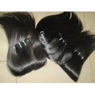 14″ (35cm) Hair Extensions Straight Baby Thin Hair In Weft Crochets