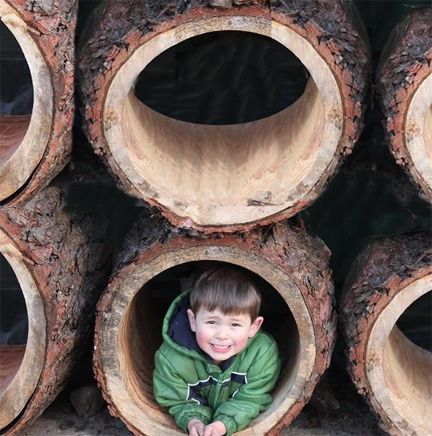 This brand-new item is a winner! The Hollow Log is unique to our store, comes in almost any length and diameter, and is a fabulous addition to any play area and for any age group. #NaturalPlaygroundsStore