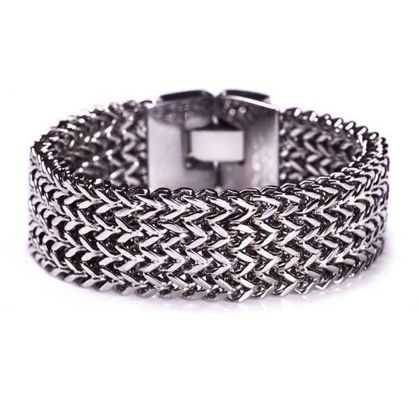 Chained stainless steel bracelet - also available in rose gold from Anna Davies Betws-y-Coed