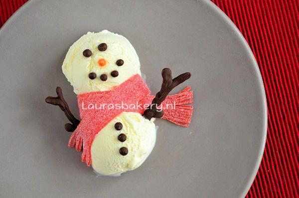 IJsbollen Sneeuwpop Dessert
