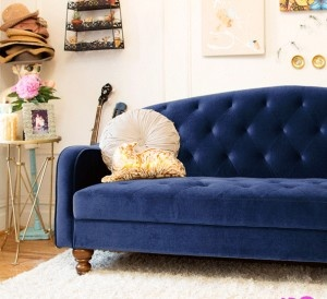 Navy couch from UO
