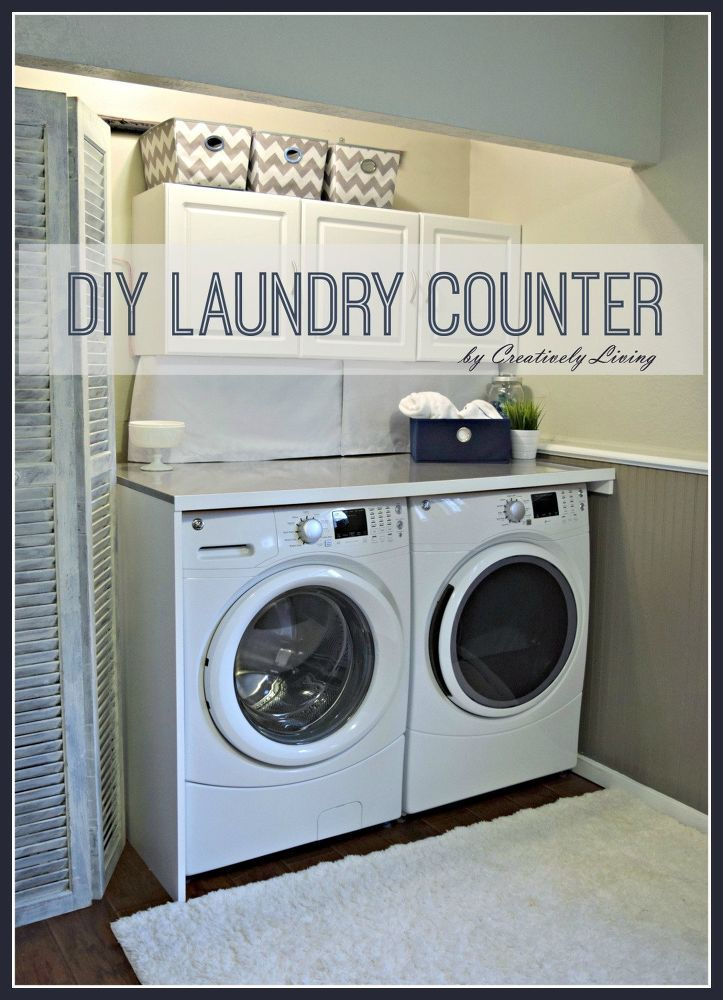 Diy Laundry Counter Workspace Laundry Room Countertop Laundry