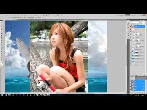 SPEED ART BY PHOTOSHOP CS5 HIPPO FLY