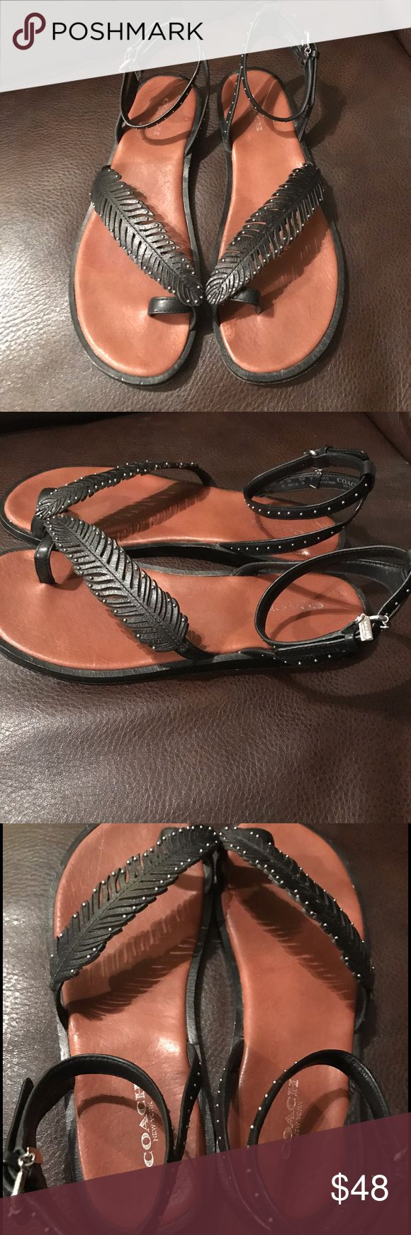 coach sandals these are in great condition hardly worn at all tags born