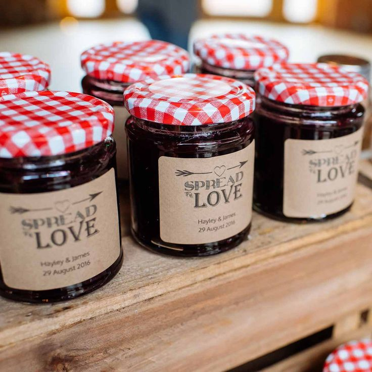 spread the love wedding jam labels personalised stickers jam favours chutney…