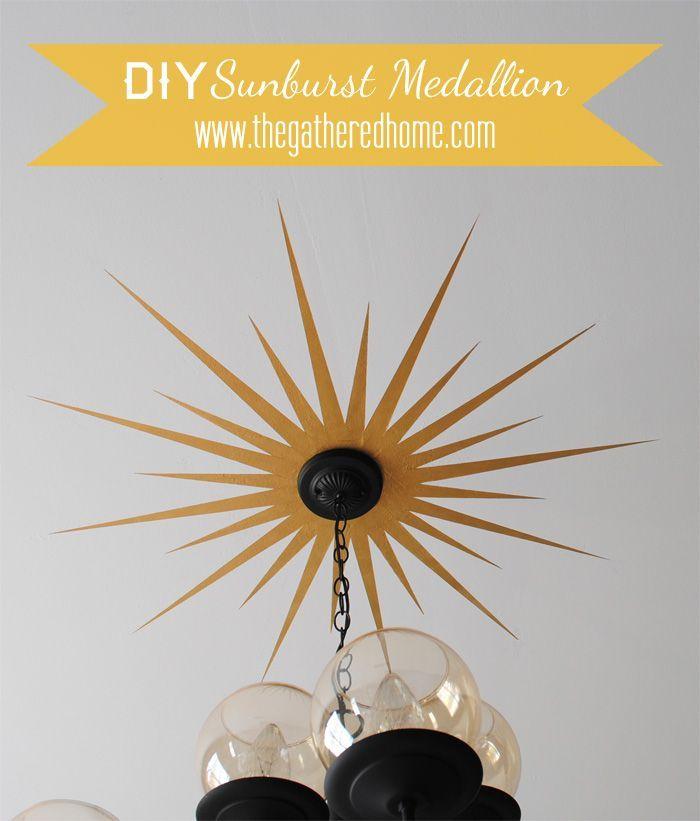 DIY Sunburst Ceiling Medallion!