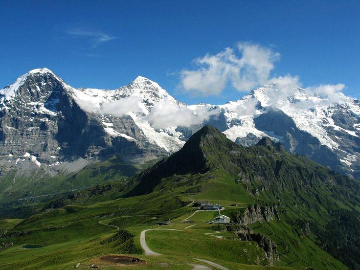 Eiger, Moench e Jungfrau dal Maennlichen - Berner Oberland, Svizzera
