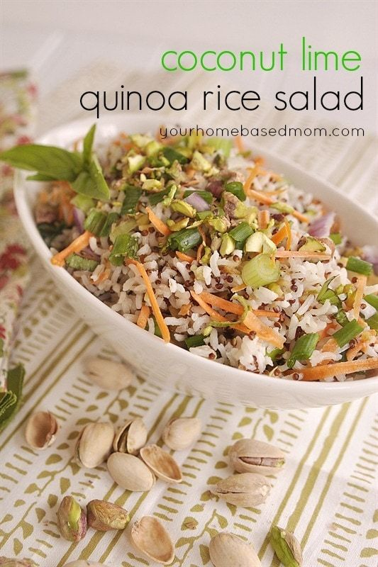 Coconut Lime Quinoa Rice Salad Side Dish Recipe - If you are trying to introduce quinoa into your family's diet, this is the way to do it.  So delicious and easy!