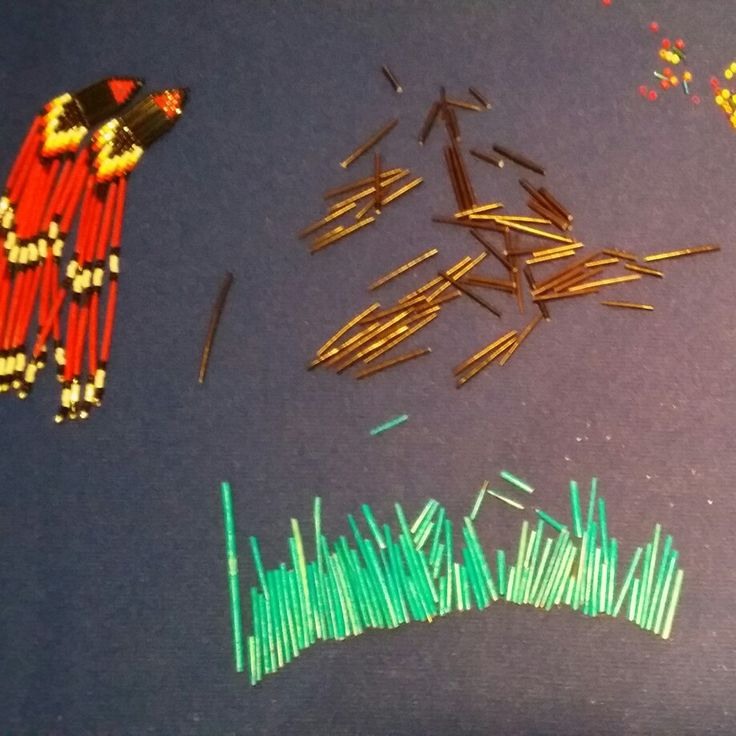 Organizing quills for dangling quill earrings