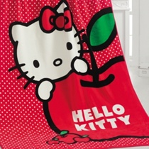 Evdenemoda.Com - SAB EV TEKSTİLİ - Hello Kitty Apple İspanyol Battaniye