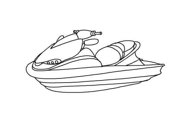 Ski Boat Coloring Pages