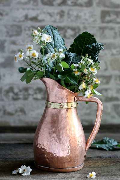 Vintage Copper Water Jug c. 1880                                                                                                                                                     More