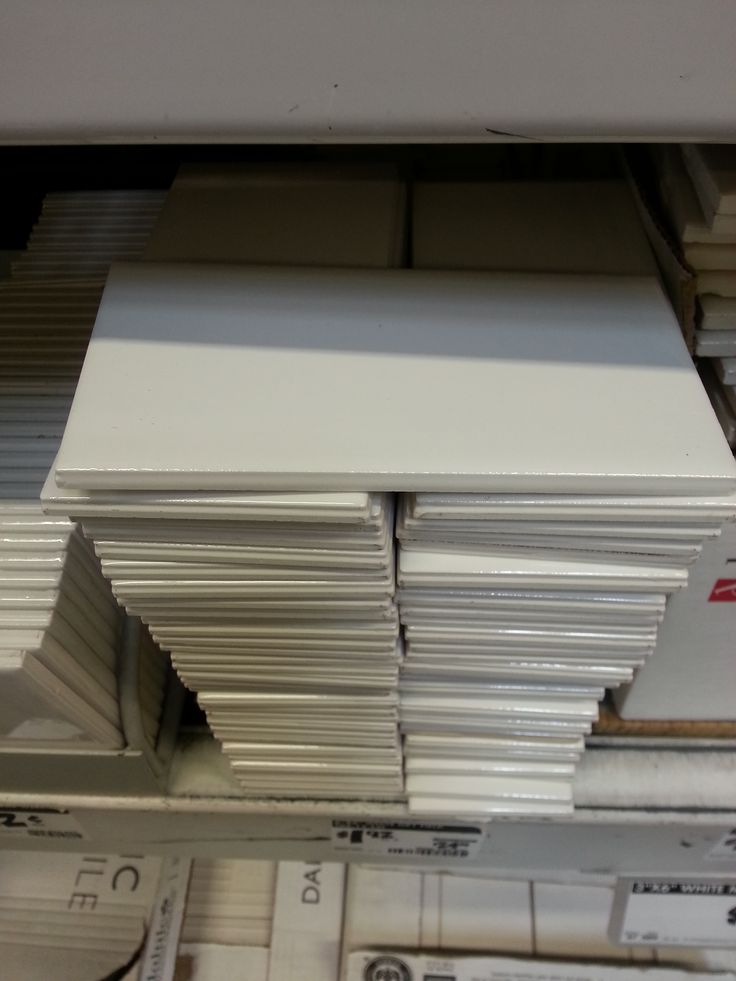 3x6 white subway tile from home depot for walls in tub