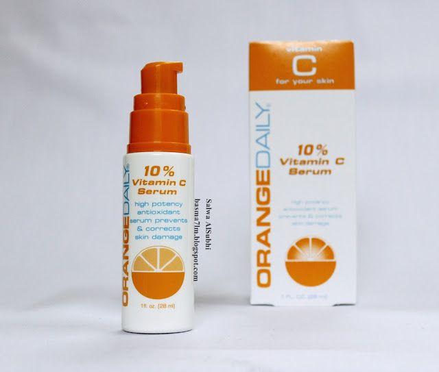 بسمة حلم سيروم فيتامين سي 10 من أورنج ديلي Orange Daily 10 Vitamin C Serum Vitamins Damaged Skin Beauty Skin
