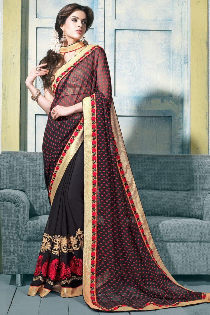 206 Best Latest Party Wear Sarees Online Images On Pinterest Georgette Sarees Sarees Online