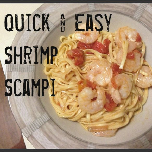 Quick and easy recipe for shrimp scampi! Uses ingredients you almost always have on hand for an easy go-to dinner!