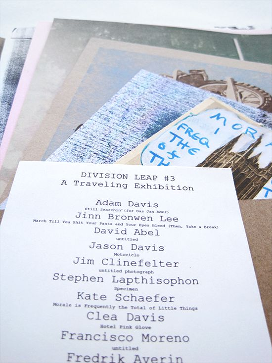 Division Leap. 3 : a Traveling Exhibition, 2011.
