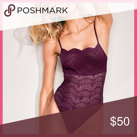 •Victoria's Secret• Scalloped Lace Plum Bodysuit V I C T O R I A 'S ✦ S E C R E T    ❈ Condition: New with tags  Scalloped lace is anything but sweet in this skin-baring bodysuit with a revealing back and cheeky bottom.  •Lightly lined cups •Adjustable straps •Allover lace with scalloped edge at neckline, around back •Cutout at low back •Cheeky bottom  •Imported nylon/spandex  ❈ Fast shipping Monday⇢Friday  Same/Next day after your purchase  ❈ Questions? Please comment below,  I will be more…