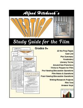 """This 22-page printable guide provides •general and cinematic vocabulary, •literary terms, •""""around San Francisco"""" (detailing sights in the film), •cinematic trivia, •pre-viewing and post-viewing prompts for student discussion, •questions to use during the film, •literary and cinematic notes to use during the film,  •ideas for writing or research, •a post-film test, •answer keys."""