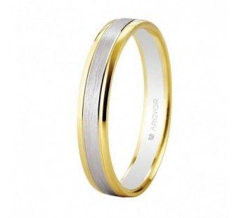 Alianza oro bicolor con 3,6mm ancho oro blanco y amarillo 5240496