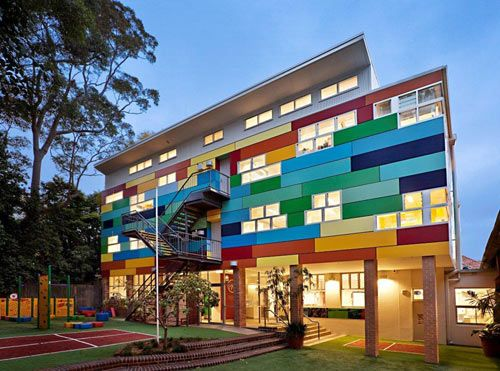 colorful wahroonga preparatory school by GGF architects in australia