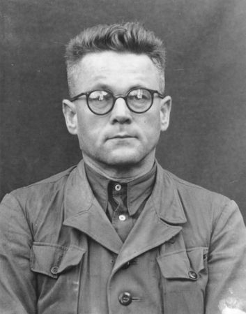 Dr. Karl Franz Gebhardt, Chief Surgeon in the Staff of the Reich Physician SS and Police, and personal physician to Heinrich Himmler, was the main coordinator of a series of surgical experiments performed on inmates of the concentration camps at Ravensbrück and Auschwitz. After the war he was convicted of war crimes and crimes against humanity and was hanged on 2 June 1948, aged 50.