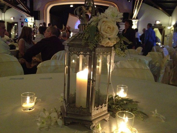 Lantern wedding centerpiece