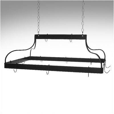 Grace Mediterranean Hanging Pot Rack Grid: Standard, Finish: Satin Black