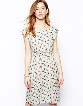 Emily & Fin Sophie Dress in Pineapple Print