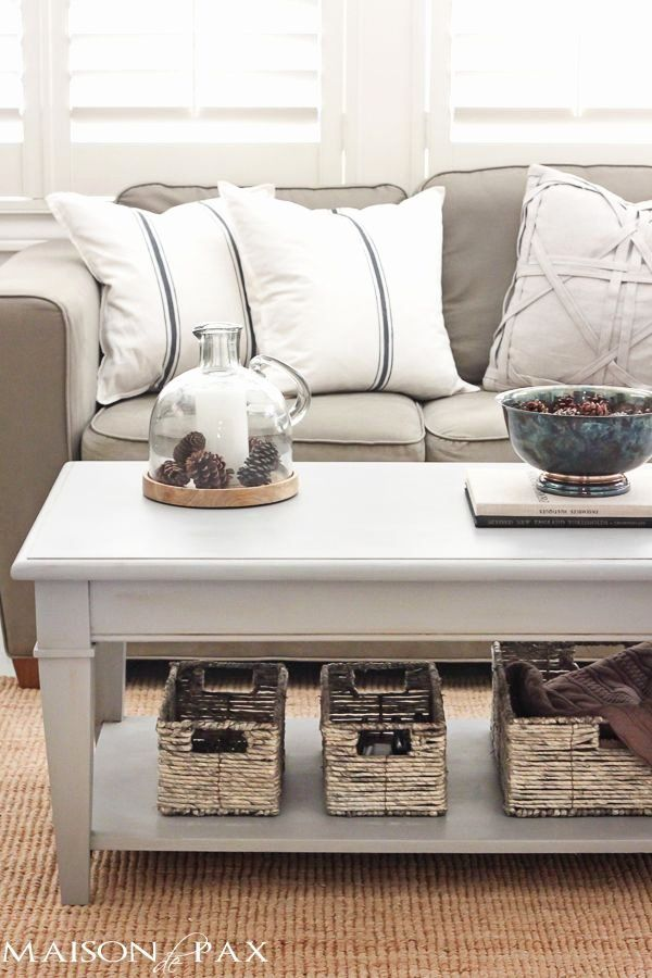 Chalk Paint Living Room Furniture Lovely Gray Chalk Paint Coffee And Side Table With Images In 2020 Chalk Paint Coffee Table Painted Coffee Tables Painted Side Tables #painted #living #room #furniture