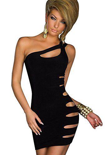 Kearia Women Sexy One Shoulder Clubwear Disco Gogo Cut Out Bandage Bodycon Dress Black Kearia http://www.amazon.com/dp/B019XLKVUK/ref=cm_sw_r_pi_dp_6aB9wb0NYC4W3