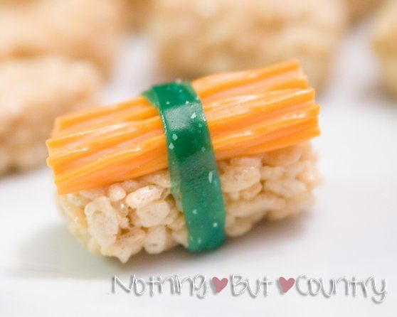 Fake Sushi for kids ninjago birthday party. Great site for how to!