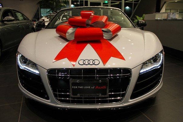 audi gift ribbon christmas xmas regalo r8 audir8 love in love with audi pinterest. Black Bedroom Furniture Sets. Home Design Ideas