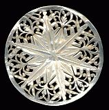 """""""Bethlehem"""" or """"Jordan"""" mother of pearl button from the Holy Land in the 40s or 50s."""