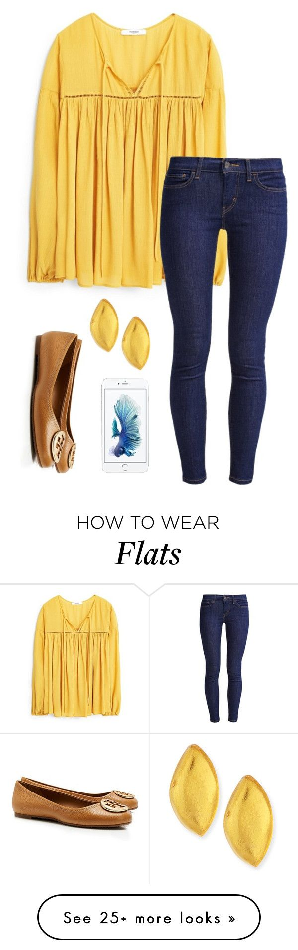 """Cute"" by meljordrum on Polyvore featuring Tory Burch, MANGO, Levi's and Viktoria Hayman"