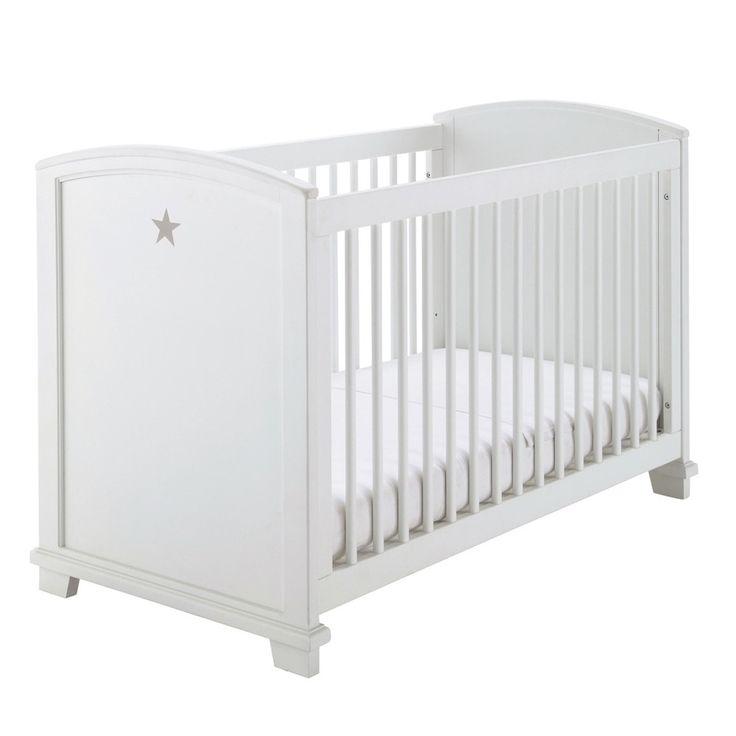 Epic Baby Gitterbett aus Holz mit Sternmotiv L cm wei Pastel