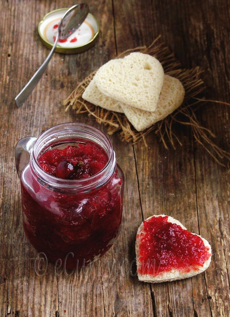 Spiced Cranberry Apple Jam/Chutney | eCurry - The Recipe Blog