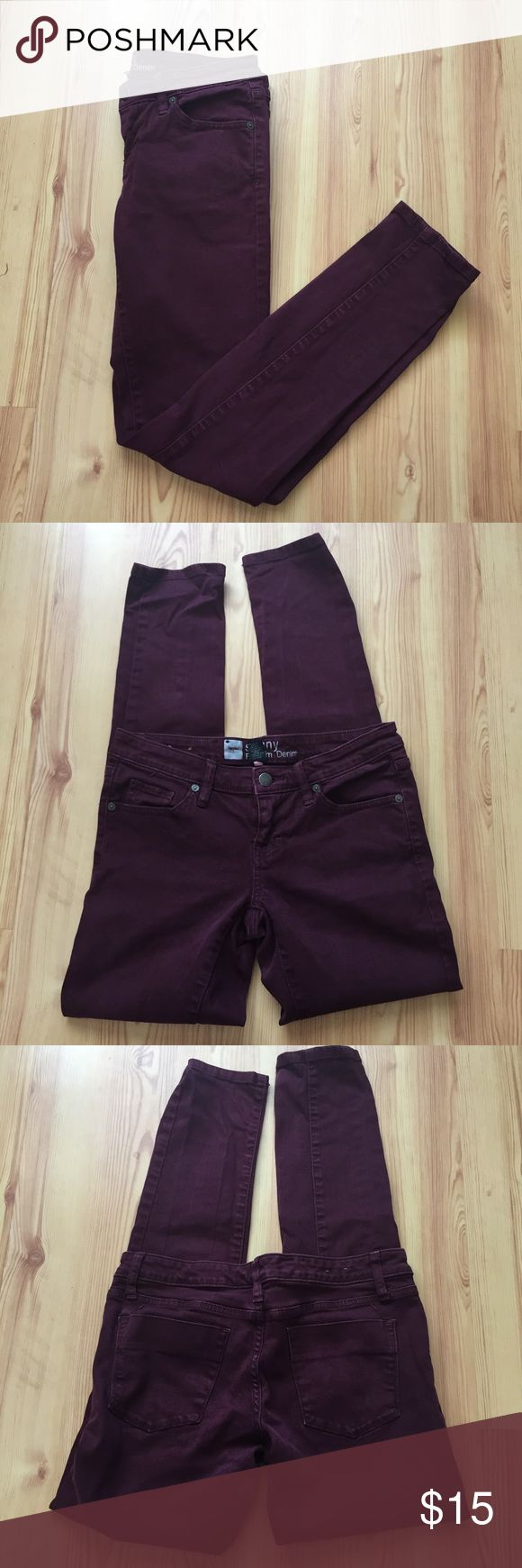 Mossimo Oxblood Jeans Dark red/oxblood jeans, appears darker in pictures then they really are. Gently worn but no flaws. Size 2. Please ask for measurements if unsure about sizing. Mossimo Supply Co. Pants Skinny