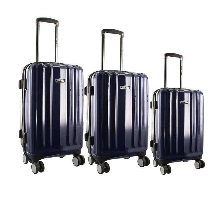 Pierre Cardin Designer Suitcase Set PC2029  On sale now - one low price for all three suitcases with free delivery    Pierre Cardin Designer Suitcase Set PC2029 Super light weight luggage.  These travel companions are beautiful and practical with lightweight durable construction.    Hardcase in 3 sizes including Cabin bag size case.    The PC2029 comes in three colours Black , Blue