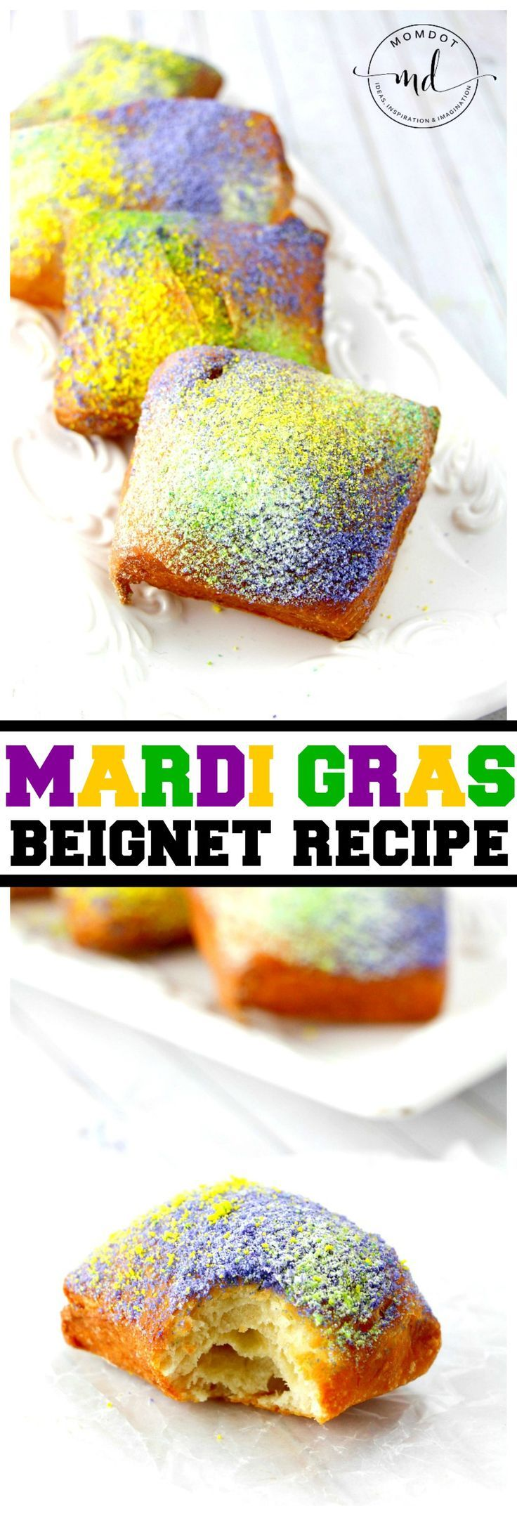 Mardi Gras Beignet Recipe, simple beignet recipe that copycake Cafe Du Monde New Orleans style