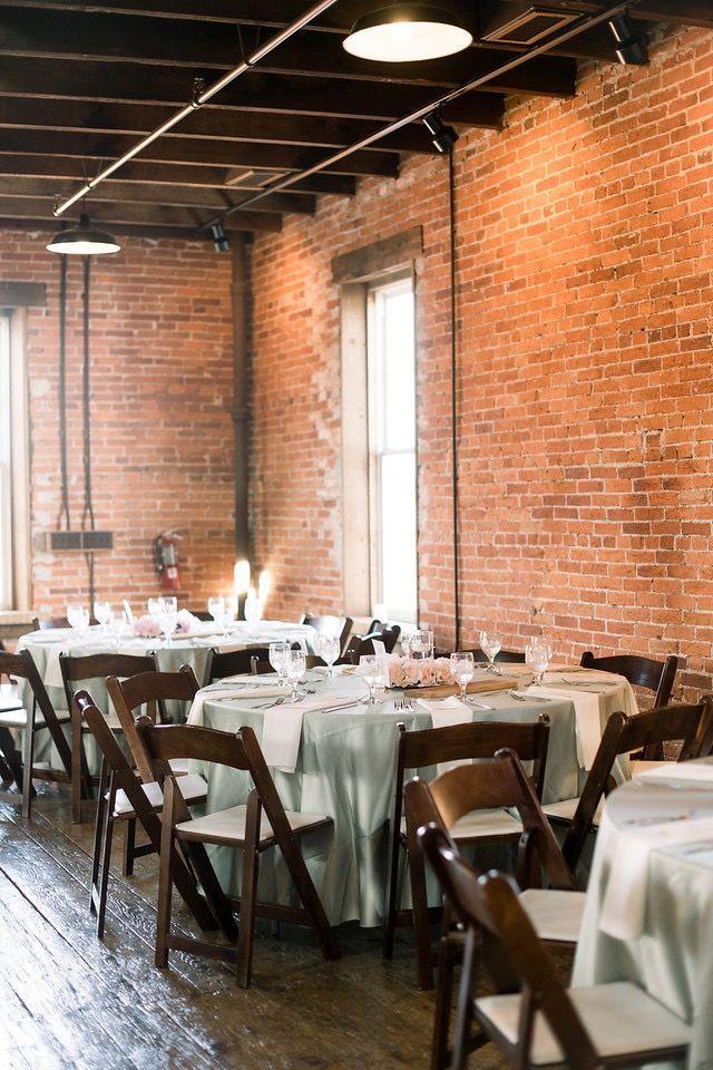 The Booking House Wedding Reception Ceremony Brick Warehouse Wedding