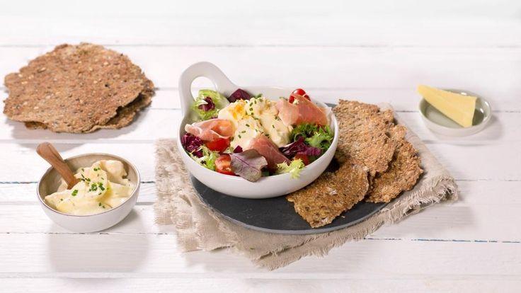 Oppskrift på Eggesalat med spekeskinke, foto: