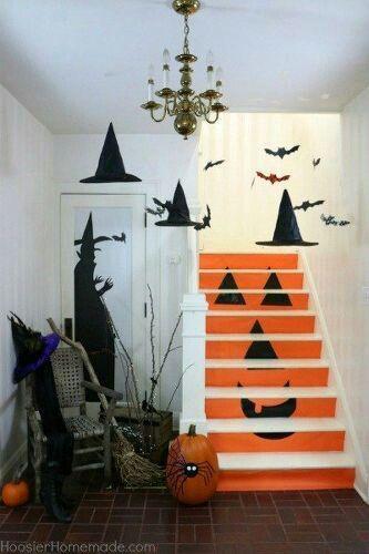 staircase idea homemade halloween decorationshalloween