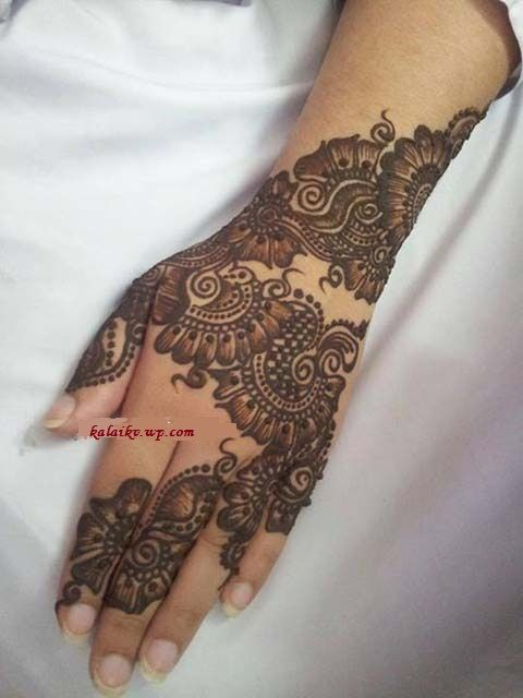 Latest Floral Mehandi Art