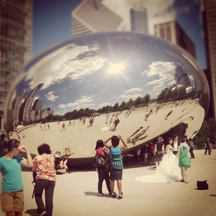 When visiting Chicago, you must take a picture of your reflection at the Cloud Gate aka The Bean!