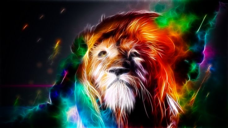 Fractal Art Lion Super Cool Picture Lion artwork, Animal