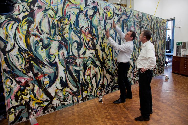 Jackson Pollock's famous large scale painting, Mural, goes on view at the Sioux City Art Center