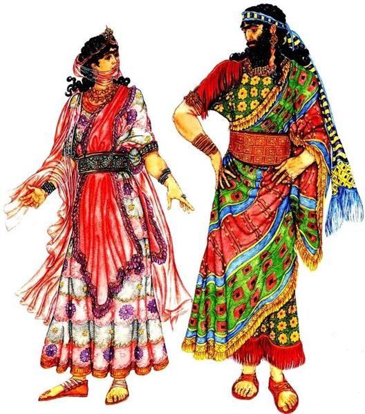 Персидский костюм ассирийский костюм фото